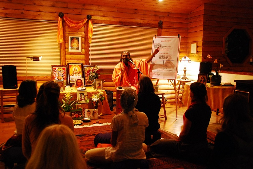Swami travels regularly to Steamboat Spring, Colorado, to lecture.