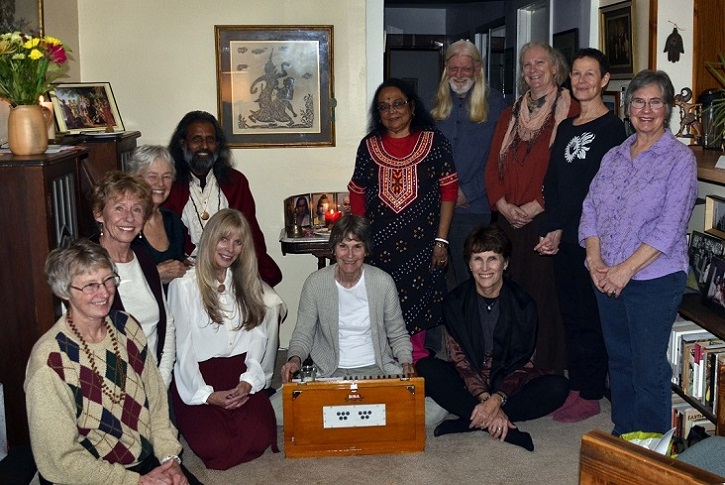 Swami's kirtan group.